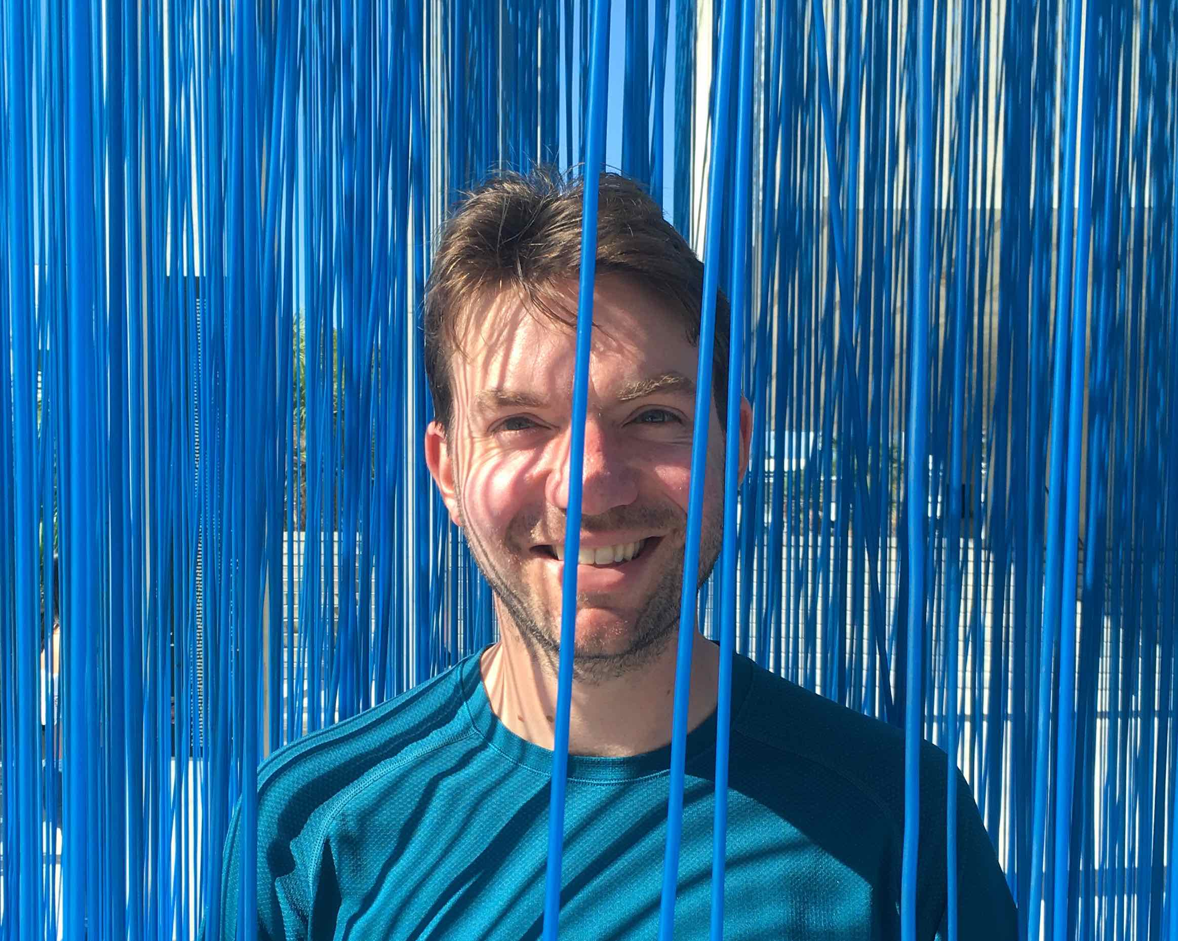 Me inside Jesuss Rafael Soto's 'Penetrable BBL Blue 2/8' at the Perez Art Museum in Miami